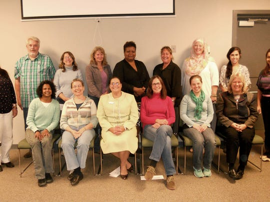 These tutors completed the October 2015 training. Seated in the front row, from left, are: Roschne Davidson, Cathy Stouch, Jodi Lutz, Amanda Sigel, Priscilla Cash, Pam Gladfelter. Standing in the back row, from left, are: Samia Barsom, Jim Hovatter, Wendy Cutright, Trish Savage, Andrea Griffin, Dine Fuhrman, Lori HarLeman, Hope Georgantis and Elibeth Feliz. The next round of training will be held in March.