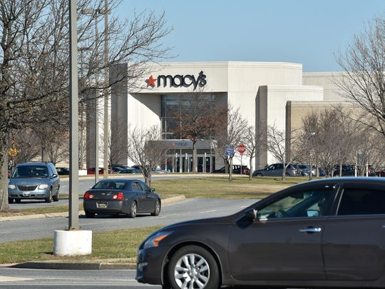 View of Macy's store front at the Dover Mall on US 113 in Dover, Del.
