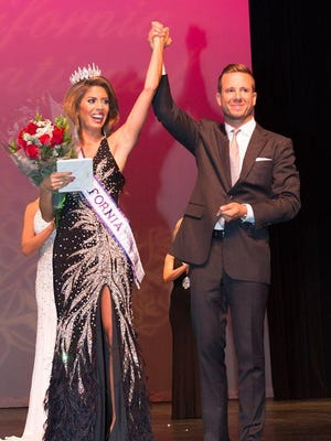 Mrs. California International 2015 Melissa Vanni, during last year's ceremony with her husband Ryan Vanni.