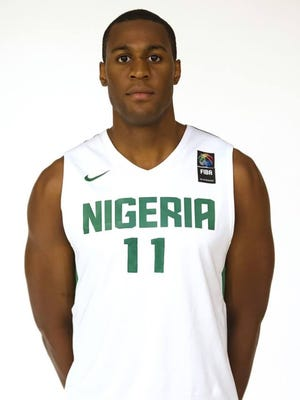 Former CSU basketball player Andy Ogide scored two points Monday night for Nigeria in a tuneup game for the Rio Olympics against the United States in Houston.