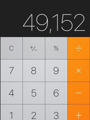 The iOS calculator app.