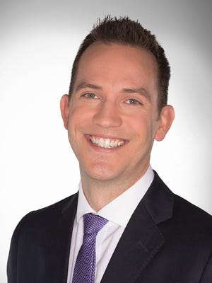 Headshot for former longtime News 2 meteorologist Justin Bruce, who moved to Las Vegas earlier this year