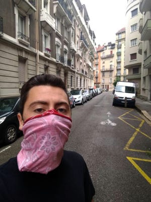 Dylan Ciaccio, a 2018 Marlborough High graduate, is living and attending school in Grenoble, France, amid the coronavirus pandemic.