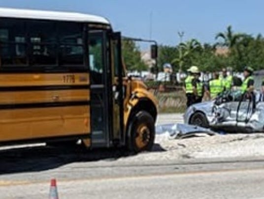 driver killed  crash involving lee county school bus