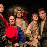 """The science-fiction comedy """"See You Next Doomsday"""" features Mike McGettigan, left, Moni Jones, Micahel Hovitch, Jade Fearn and Shawn Handlon at the Planet Ant Theatre."""