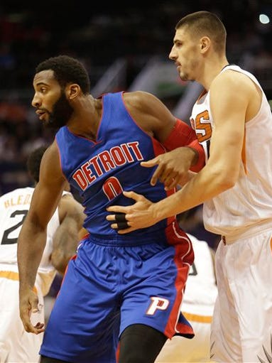 Detroit Pistons center Andre Drummond (0) in the first