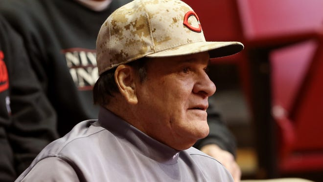 Former Reds great Pete Rose.