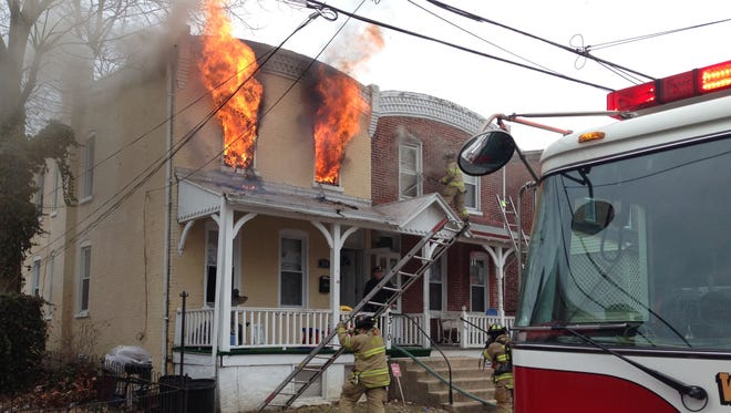 Fire in the 300 block of E. 24th St. in Wilmington.