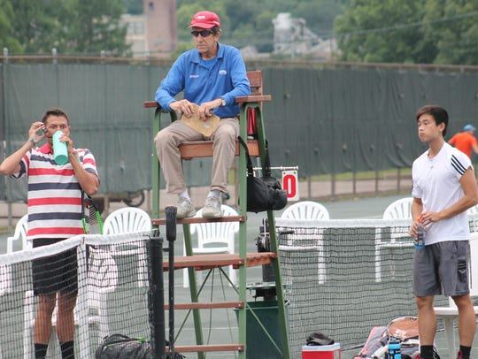 USTA umpire and Indian Hill girls tennis coach Gary