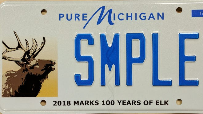 An elk will replace the common loon on the Michigan wildlife license plate.