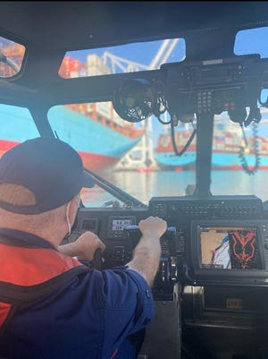 The Coast Guard is searching for a man who went missing after falling overboard in the Port of Savannah early Tuesday morning.