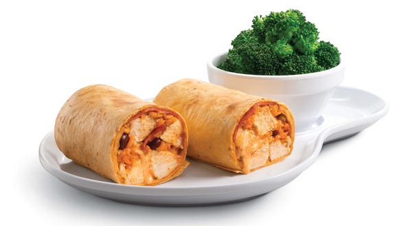 Santa Fe wrap, paired here with a side of fresh broccoli,