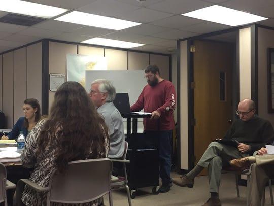 Charles Knitter, an Accomack County resident, addresses