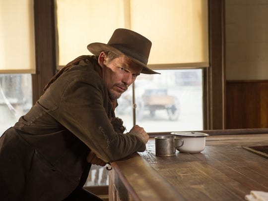 "Ethan Hawke in a scene from ""In a Valley of Violence."""
