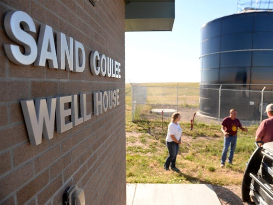 The town of Sand Coulee has a new water tower, pump