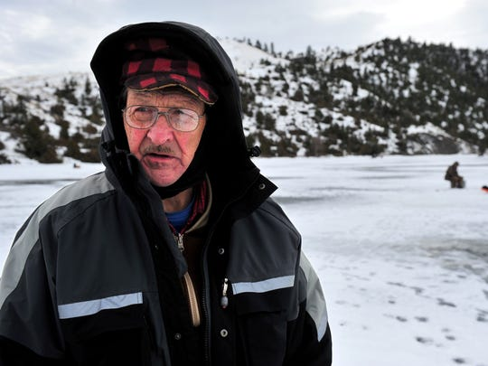 """We like to eat perch, so that's why we come up here,"" Art Nuthak of Butte said at Holter Lake."
