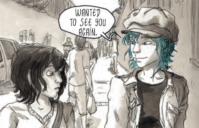 Clementine fosters a relationship with the older Emma in the graphic novel 'Blue is the Warmest Color.'