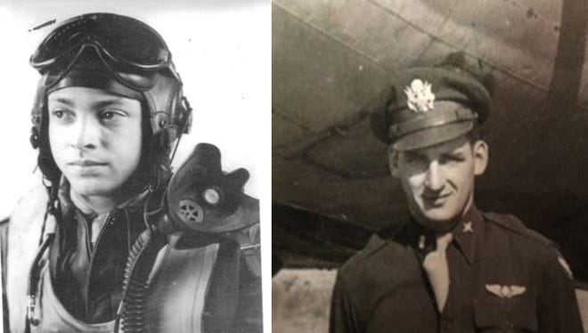 "George Hardy, left, and Vernon ""Bo"" Sigo served as pilots in World War II."