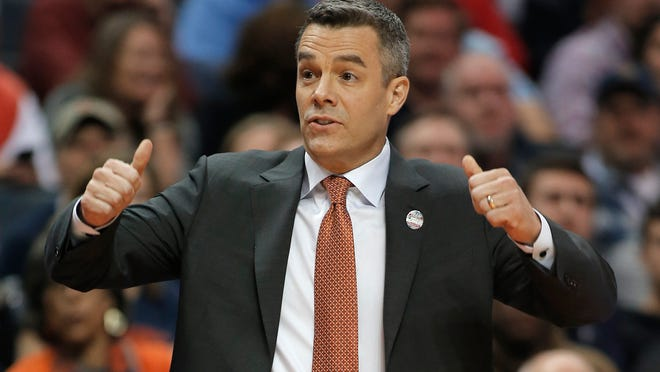 Tony Bennett, shown here coaching the Virginia basketball team last season, nearly helped UW-Green Bay pull off a road upset of Loyola Marymount when he was a freshman 30 years ago.