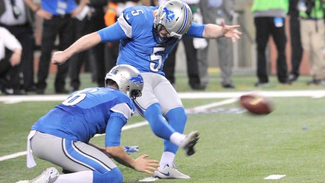 Lions kicker Matt Prater will be kicking extra-point attempts from farther away next season.