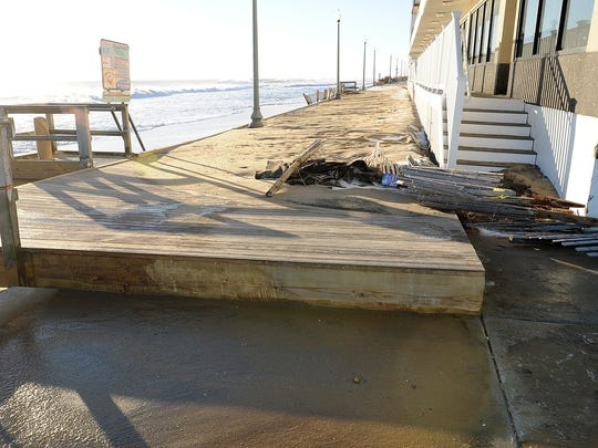 After three consecutive high tides, the dune at the