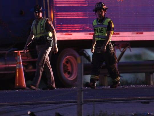 Scenes from a multi-vehicle fatal crash Friday night