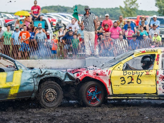 The demolition derby is a staple of the Waukesha County
