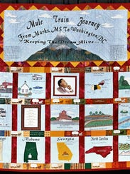 Betty Crawford made a quilt to honor the mule train