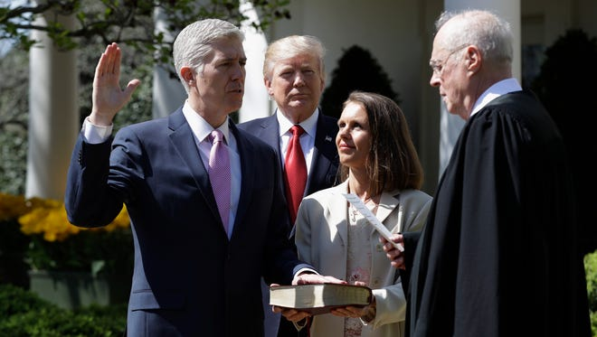 President Trump plans to attend Thursday's investiture ceremony at the Supreme Court for his nominee, Neil Gorsuch.