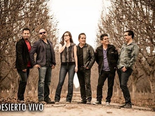 Desierto Vivo, with lead singer Jorge Alvidrez, far