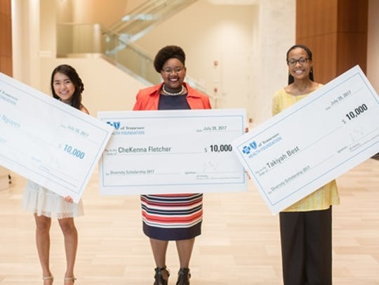(L-R) BlueCross Diversity Scholarship recipients Tanzie