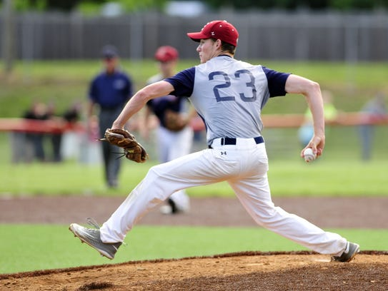 Eastern pitcher Jesse Barbera delivers during the Diamond