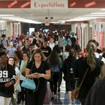 Students at Jeffersonville High School returned to school on Thursday.
