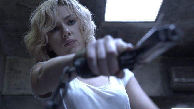 "Scarlett Johansson tsars in the title role in ""Lucy."""