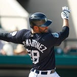 Tigers' J.D. Martinez sustains right foot sprain; X-rays negative