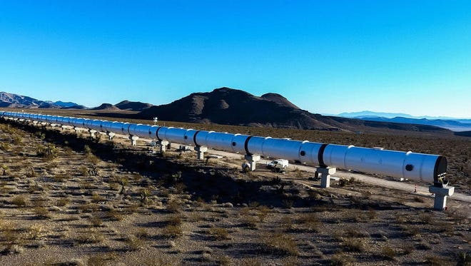 Hyperloop One The Hyperloop test site in Las Vegas, Nevada, is seen in this file photo. CDOT has entered a partnership with Hyperloop One to further study the feasibility of a route in Colorado.