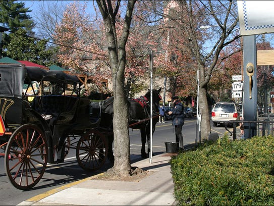 The Main Street of New Hope, Pa., offers music, galleries,
