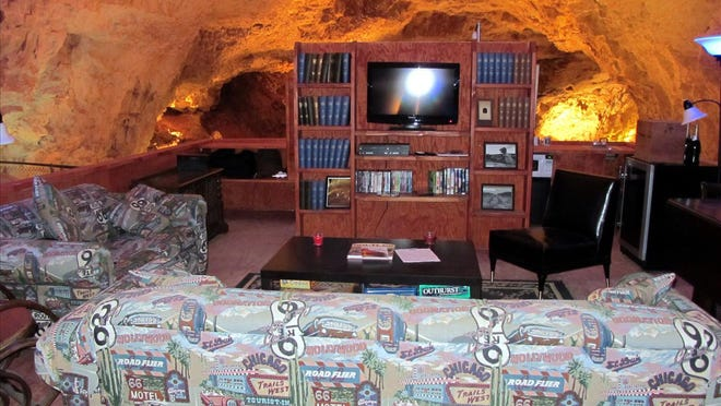 The Cave Room of Grand Canyon Caverns is the deepest, darkest hotel room in the world. Credit: Grand Canyon Caverns.