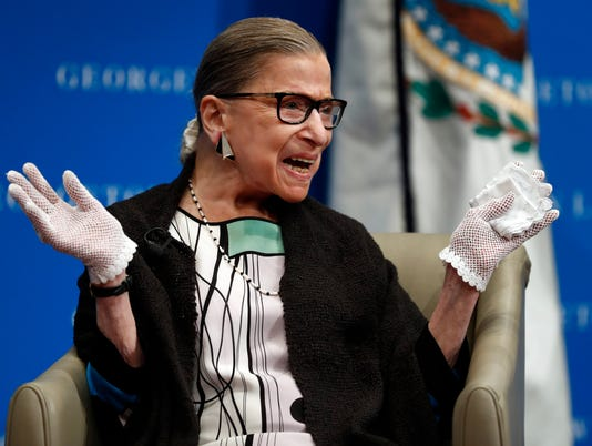 AP SUPREME COURT JUSTICE GINSBURG STAYING PUT A FILE USA DC