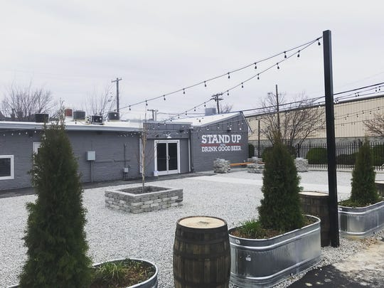 Outside of Falls City taproom located at 901 E. Liberty