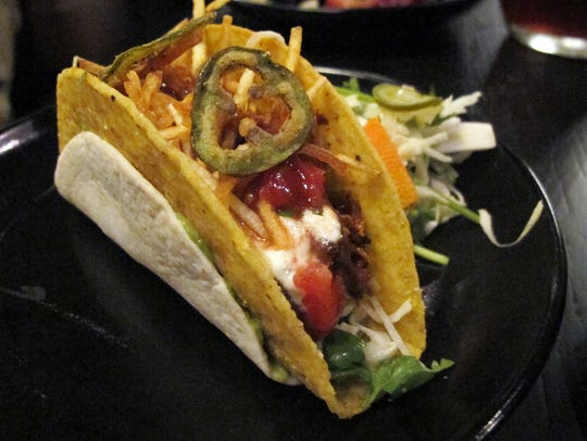 The Ricky Bobby taco at The Saloon in Coconut Point