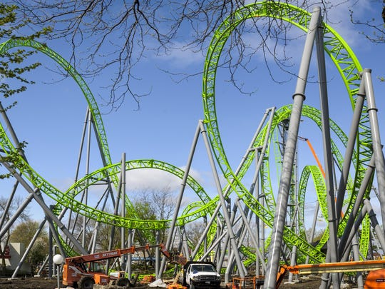 The biggest and newest addition to Adventureland Park is almost ready to roll. The Monster, a brand-new, German-designed roller coaster, is nearly ready for test runs.