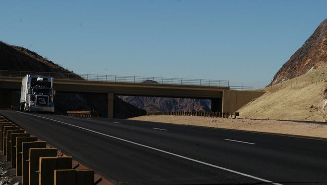 Traffic growth has been slower than projected in Interstate 11 project documents.