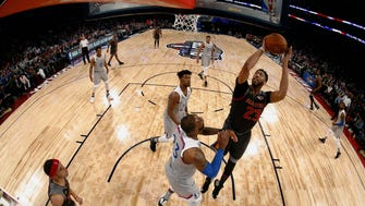 Anthony Davis (23) in the All-Star Game in New Orleans on Feb. 19, 2017.