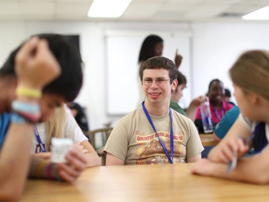 Connor Yeatts, 21, chats with fellow enrolees of the life and social skills summer institute, a part of ACE's adult with disabilities program. The people participating in the program, are the very same that might benefit from Tant's independent assited living facility which is now in the works with assistance from Gannett's 2018 A Community Thrives grant program.
