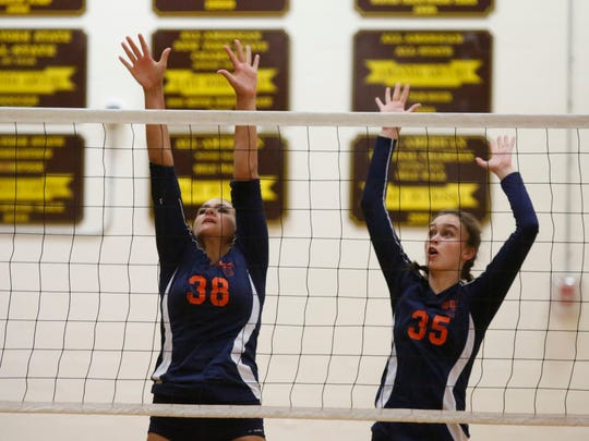 Horace Greeley in action at the Vikings Volleyball Tournament at Clarkstown South High School in West Nyack on Saturday, September 24, 2016.
