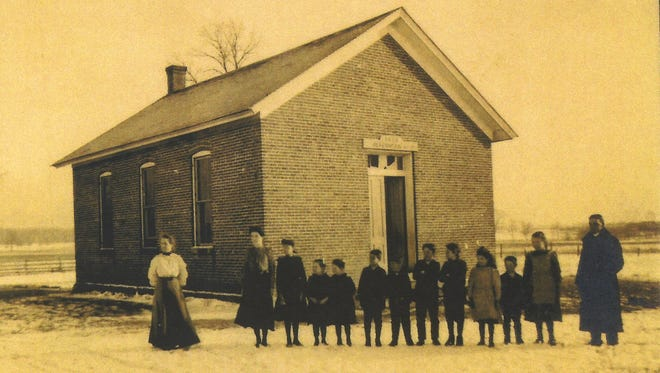 This undated photo shows a class at Morris School, also known as Wabash Township School No. 5.