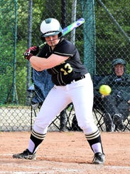 Howell's Avery Wolverton takes a pitch in a KLAA semifinal