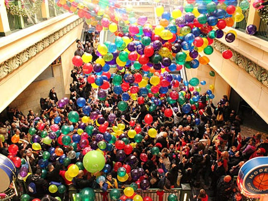 As part of a New Year's celebration for children ages