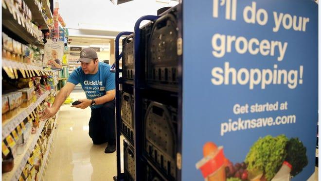An employee fills a ClickList order.